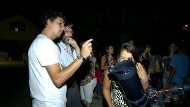 Telescópios são instalados temporariamente em Domingos Martins, no ES - Vários moradores puderam ver de perto a lua e as estrelas.