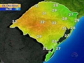 Tempo: nesta sexta-feira, a previsão é de pancadas de chuva em partes do RS - Em Porto Alegre, a máxima é de 31ºC.