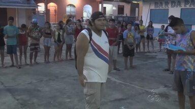 Jovens fazem ensaio para encenação da Via Sacra no AM - Atividade está sendo realizada em Nova Olinda do Norte.