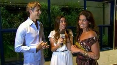 Giovanna Antonelli e Reynaldo Gianecchini relembram parcerias na TV - Dupla de atores faz o terceiro casal na novela Em Família