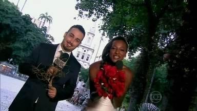 Buquê ou galhada? Vídeo Show brinca com casamentos - Público conta se prefere pegar buquê ou galhada