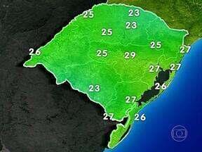 Tempo: nesta quinta-feira, a previsão é de chuva em partes do RS - Em Porto Alegre, a máxima é de 27ºC.