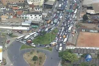 Redecop mostra imagens das obras do metrô e do trânsito de Salvador - Repórter Ricardo Smahel sobrevoa a capital baiana no helicóptero da Rede Bahia.
