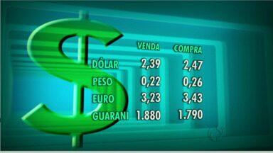 Confira a cotação das moedas na fronteira - Dólar está R$ 2,47 para compra