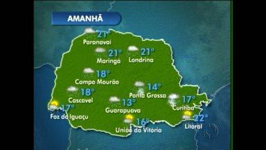 Quinta-feira vai ser chuvosa em Curitiba - Confira no mapa