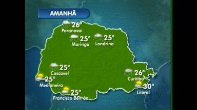 A chuva continua amanhã no oeste e sudoeste - O tempo vai firmar só no fim de semana