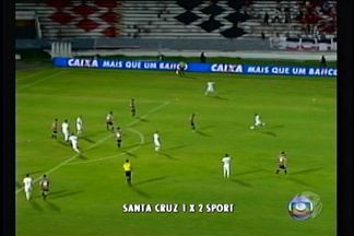 Sport vence o Santa Cruz e garante vaga na Copa do Nordeste - Sport vence por 2 a 1 no estádio do Arruda