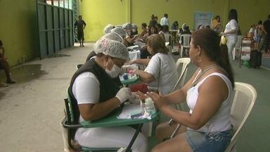 Fala Comunidade oferece serviços a moradores do São Geraldo, em Manaus - Atividade da TV Amazonas levou serviços gratuitos de diversas áreas à população.