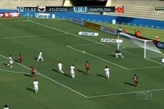 Atlético-GO e Anapolina empatam por 1 a 1 na primeira semifinal - Júnior Viçosa marca para o Dragão, e Danilo balança as redes para a Xata, que segue em vantagem.