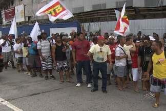 Operários da construção civil inciam nesta segunda uma greve em todo o estado - Uma caminhada foi feita pelos grevistas pela paralela até o centro Administrativo da Bahia.