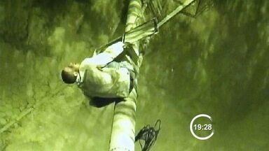 Jovem é filmado danificando câmera do COI e é preso em São José, SP - COI acompanhou ação e acionou a polícia, que fez a prisão do suspeito. Transmissor do equipamento, que foi danificado, foi apreendido pela PM.
