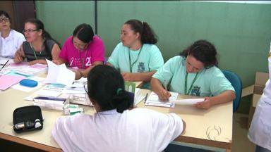 Detentas passam por mutirão da saúde em Foz do Iguaçu - Elas passaram por exames e também foram orientadas sobre a prevenção de diversas doenças.