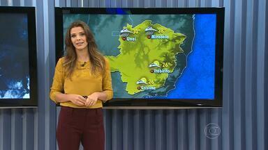 Pode chover em pontos isolados da Região Metropolitana de Belo Horizonte - Veja no mapa os detalhes da previsão do tempo para as regiões de Minas.