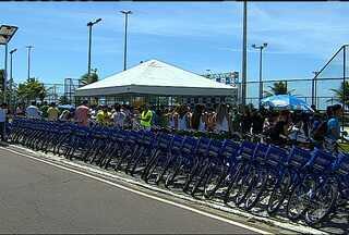 Primeira etapa do 'Caju Bike' é inaugurada em Aracaju - Aracaju ganha o serviço de compartilhamento de bicicletas.