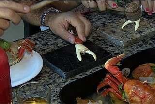 Caranguejo é atração para turistas em Aracaju - Caranguejo é uma das atrações para turistas em Aracaju.