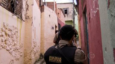 PM faz operação em vilas e favelas de Contagem, na Grande BH - A cidade tem um dos maiores índices de crimes violentos do estado, como homicídios e roubos.