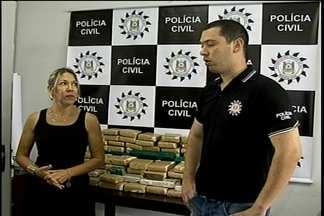 Polícia Civil apreende quase sessenta quilos de maconha - Um homem foi preso