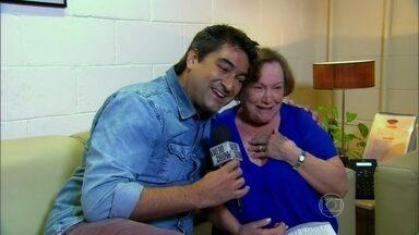 Nicette Bruno fala ao Vídeo Show após sua volta às gravações de Joia Rara - Atriz se afastou dos estúdios após o falecimento do marido Paulo Goulart