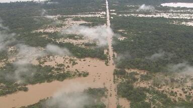 Prejuízos causados pela cheia somam R$ 70 milhões, no Sul do AM - Rio Madeira atingiu cota histórica; em Humaitá a situação é de calamidade pública.