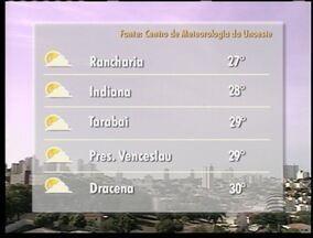 Nova frente fria avança e traz instabilidade à região de Presidente Prudente - Veja como ficam as temperaturas em alguns municípios.