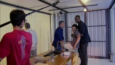 Marcela Monteiro mostra os bastidores do resgate de William em Além do Horizonte - Thiago Rodrigues e Léo Wainer comentam gravação da cena