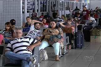 Movimento é tranquilo no aeroporto durante volta do feriado, em Goiânia - Já na rodoviária da capital foram registrados alguns atrasos.