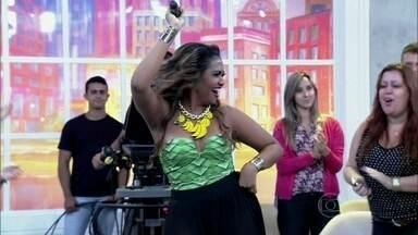 Gaby Amarantos abre 'Encontro' com música - Cantora interpreta o sucesso 'Beba doida'