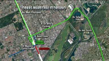 Acesso a São José dos Pinhais pela Marechal Floriano está bloqueado - Veja também: Suspeita de bomba bloqueia Avenida Sete de Setembro nesta sexta-feira