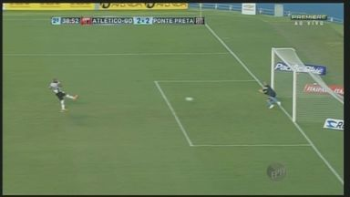 Ponte Preta empata em 2 a 2 com Atlético Goianiense na casa do adversário - Atacante Alecsandro, da Macaca, marcou os dois gols do time visitante e garantiu o empate fora de casa.