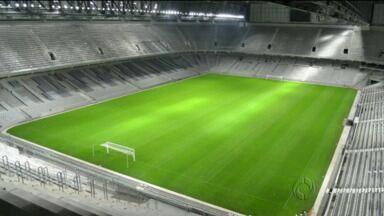 Atlético divulga imagens noturnas da Arena da Baixada - Todas as luzes estão funcionando