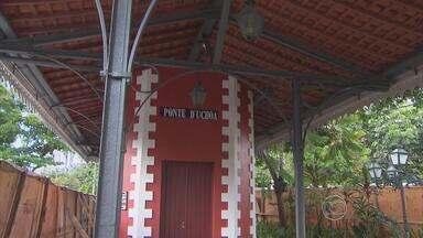 Obra da Ponte D'Uchôa, no Recife, está pronta após restauro - Recuperação exigiu uma pesquisa histórica.
