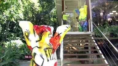 Casa de Cristal recebe esculturas de ursos de 2 metros de altura - Ideia da exposição é promover a união entre os povos
