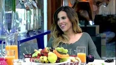 Ana Maria recebe Wanessa no Mais Você - Cantora avisa que tem desejo de tapioca