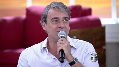 Alexandre Borges aponta realizações como motivo de felicidade - Luciana Paes acredita que felicidade é bem-estar