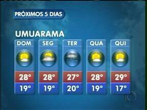 Veja como fica o tempo no domingo em Umuarama - A previsão é de sol e temperaturas mais altas neste domingo (04) em toda a região noroeste.