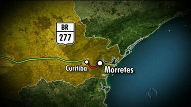 Menina de 13 anos morre em acidente na BR 277 perto de Morretes - Foi em um acidente envolvendo um caminhão e um van.