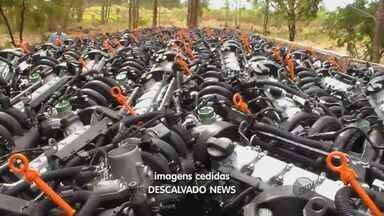 PM de Descalvado apreende carga de 95 motores avaliados em R$ 600 mil - PM de Descalvado apreende carga de 95 motores avaliados em R$ 600 mil