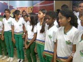 Projeto 'Amigos da TV Clube' recebeu alunos da Escola Municipal Joaquim Calado - Projeto 'Amigos da TV Clube' recebeu alunos da Escola Municipal Joaquim Calado