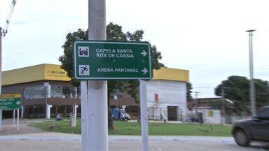 Problemas de sinalização dos pontos turísticos em Cuiabá - Problemas de sinalização de pontos turísticos em Cuiabá.