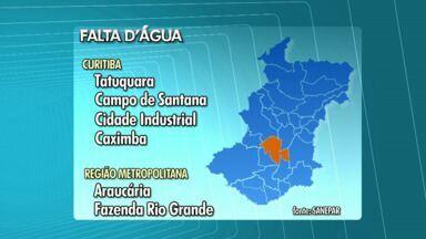 110 mil pessoas podem ficar sem água hoje - A Sanepar está fazendo obras que vão afetar o abastecimento para moradores da região sul de Curitiba e da região metropolitana.