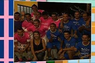 Vem, Thaís! GE visita futebol do Parque Santa Maria - Bairro tem dois times, um de rosa e outro de azul. Turma atua junto há mais de 10 anos.