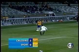 Sport perde para o Cruzeiro - A partida foi em Belo Horizonte e acabou em dois a zero para o time mineiro