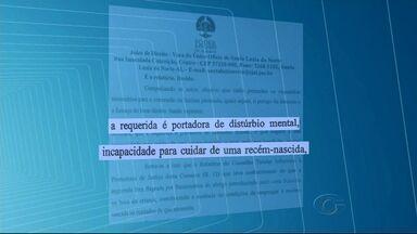 Juíza que determinou retirada de recém-nascido de mãe reafirma decisão - Mãe da criança falou com a equipe de reportagem da TV Gazeta e fez um apelo para ter a filha de volta.