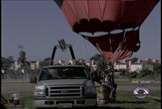 Festival de Balonismo movimenta Santa Maria (RS) - Até domingo, diversos balões enfeitam o céu da cidade.
