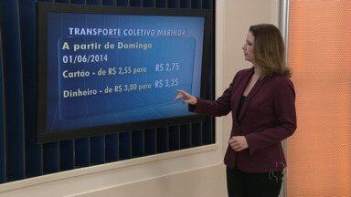 Definido o novo preço do transporte coletivo em Maringá - O valor passa a valer a partir de domingo