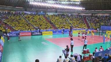Brasil perde para a Polônia pela Liga Mundial de Vôlei - O jogo foi no ginásio Chico Neto em Maringá