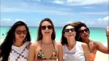 De férias, Yanna Lavigne, Juliana Paiva, Day Mesquita e Sharon Menezzes mandam recado - Atrizes brilharam na novela Além do Horizonte e agora descansam da República Dominicana