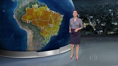 Chuva forte deve atingir o Sul e parte do Sudeste e Centro-Oeste nesta sexta (6) - Os temporais não param e pode cair granizo em Santa Catarina e no Paraná. Deve chover forte no Mato Grosso do Sul e em parte de São Paulo. Mas no Rio de Janeiro, a temperatura máxima pode chegar aos 30ºC.
