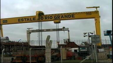 Empresários interessados em firmar parcerias visitam estaleiro de Rio Grande, RS - Grupo alemão também pode fornecer equipamentos que não são fabricados no Brasil.