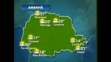 Terça-feira ensolarada em Foz do Iguaçu - E segue firme assim até quinta.